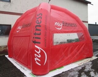 Ilmatäytteinen teltta Myfitness