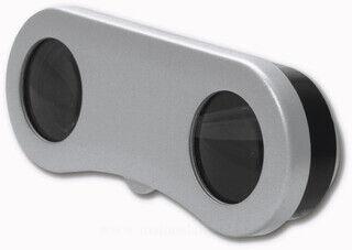 Plastic pocket binoculars