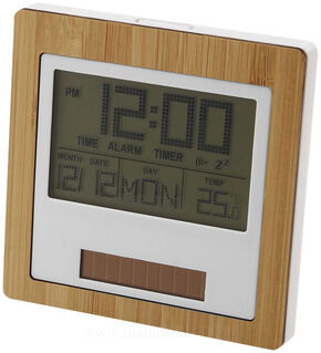 Solar power clock