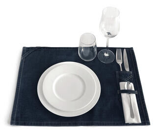 Denim Placemat with Cutlery Pocket