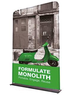 Monoligth Fabric Display 2300x955x250mm