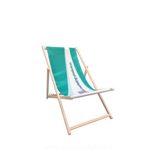 Deck chair without armrest
